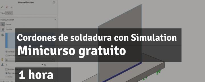 Cordones de soldadura con SOLIDWORKS Simulation