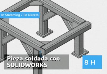 Pieza soldada/Pieza multicuerpo con SOLIDWORKS in streaming